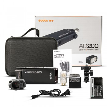 GODOX AD200Pro New Version 2.4G TTL HSS Pocket Flash Strobe Speedlite System for Photography
