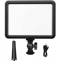 GODOX LEDP120C LED Video Light Panel Ultra Slim with 2200mAh Lithium Battery Bi-Color 3200K-5600K, CRI 95+ TLCI 95+